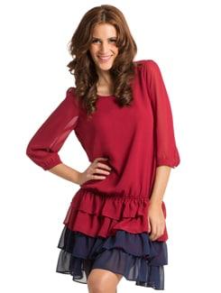 Rosewood Navy Suzy Blouson Tier Dress - PrettySecrets