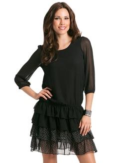 Black Suzy Blouson Tier Dress - PrettySecrets
