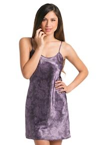 Floral Purple Short Chemise - PrettySecrets