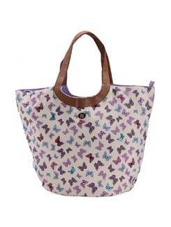 Butterfly Print Hobo - Ivory Tag