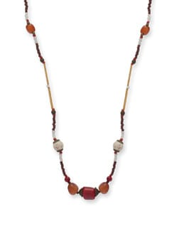 Simplistic Beaded Necklace - Ivory Tag