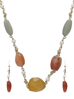 Zesty Gold Chain Jewellery Set - Ivory Tag