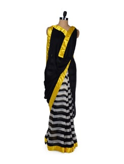 Bright Stripes Print Saree - ROOP KASHISH