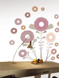 Happy Flowers Wall Sticker - Home Decor Line