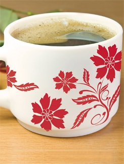 Red Flower Stickers - Home Decor Line