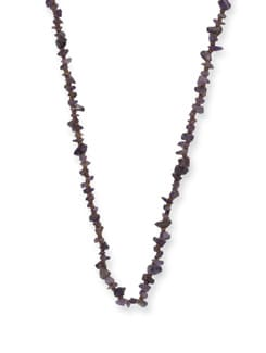 Trendy Amethyst Long Necklace - Ivory Tag