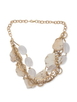 Chunky Gold Multi Howlite Necklace - Ivory Tag