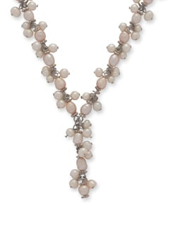 Dainty Pearly Necklace - Ivory Tag