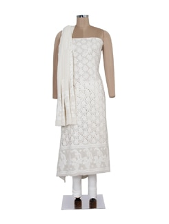 Diamonte Embellished Regal White Suit Piece - Ada
