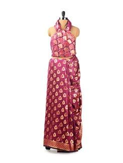Purple Benarasi Silk Saree - Seasons By Surekha