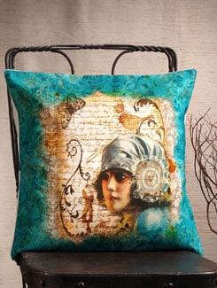 European Girl Print Cushion Cover - Veva's