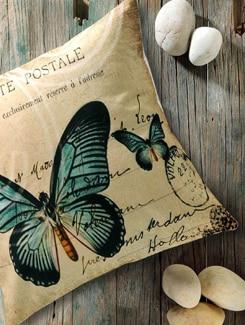 Butterfly Print Cushion Cover - Veva's