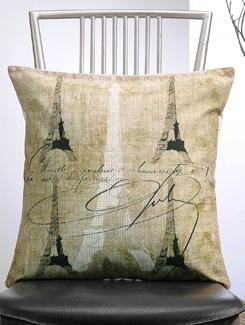 Four Eiffel Tower Print Cushion Cover - Veva's