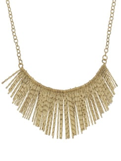 Trendy Gold Spiked Necklace - THE PARI