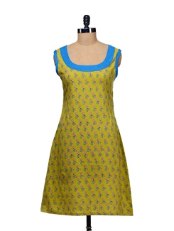 Sleeveless Printed Kurti - WILD WOMAN