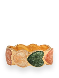 Heart Shaped Gold Plated Bracelet - Jewellery By Just Women