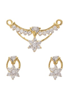 Fancy Gold Pendant Set - Mahi