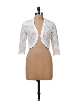 Floral Net Shrug - AND