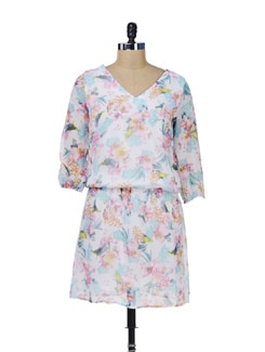 Floral Print Dress - Color Cocktail