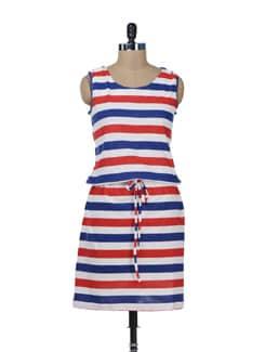 Cute Striped Dress - Color Cocktail
