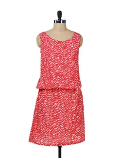 Sleeveless Printed Dress - Color Cocktail