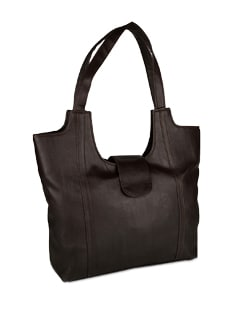 Classic Leather Brown Tote - ALESSIA