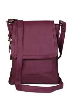 Sophisticated Leather Sling Bag - ALESSIA
