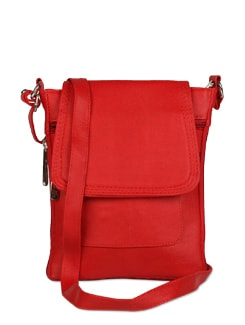 Red Hot Leather Sling Bag - ALESSIA