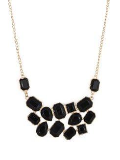 Fashionable Black & Gold Necklace - F.A.D.