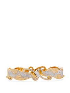 Stylized Golden And Silver Bangle - Vendee Fashion
