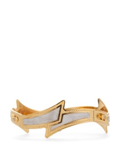 Contemporary Golden And Silver Bangle - Vendee Fashion