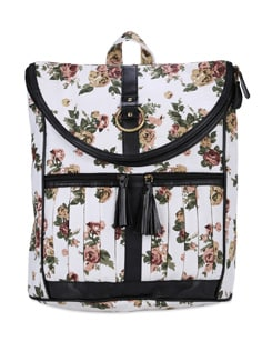 White Rose Printed Laptop Bag - SUNNY ACCESSORY