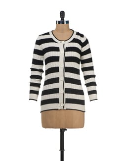 Striped Patterned Cardigan - SPECIES