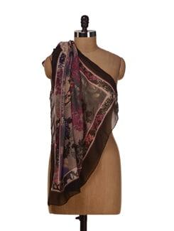 Trendy Floral Print Scarf - HOS Designs
