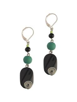 Black & Green Stone Earrings - Eesha Zaveri; Jewellery By Design