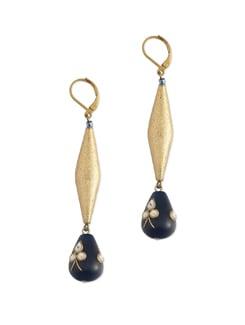 Ethnic Gold & Blue Earrings - Eesha Zaveri; Jewellery By Design