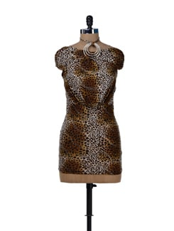 Sexy Animal Print Halter Dress - Sanchey