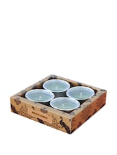 Kuheli Morning Raga T-Light Candles - Ocean Breeze Scented - (Set Of 4) - India Circus
