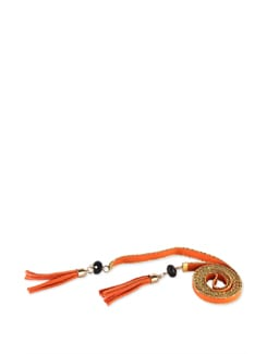 Tassled Tie-up Belt- Orange - Addons