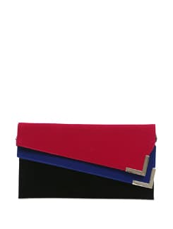 Clutch With Deep Pink And Royal Blue Envelope - Lino Perros
