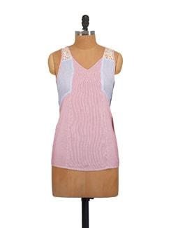 Printed Pink Jacket Style Top - Myaddiction