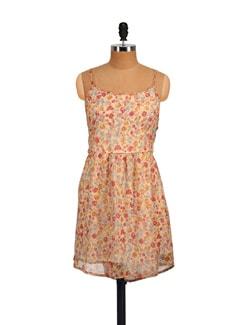 Strappy Beige Dress - Myaddiction