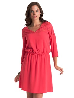 Cherry Lace Blouson Dress - PrettySecrets