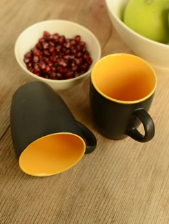Ceramic Coffee Mugs- Set Of 2 - Habitation
