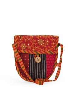 Ethnic Printed Cotton Sling Bag - Desiweaves