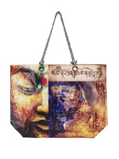 Colorful Buddha Print Tote Bag - The House Of Tara
