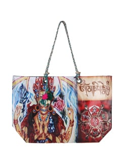 Printed Multicolored Tote Bag - The House Of Tara