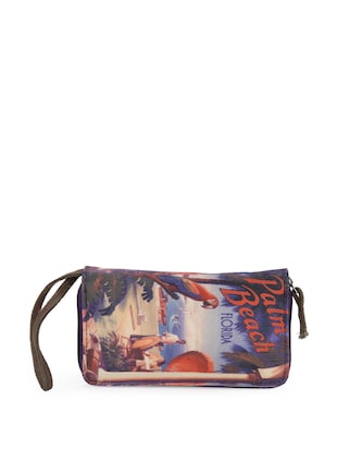 Multicolored Palm Beach Wallet