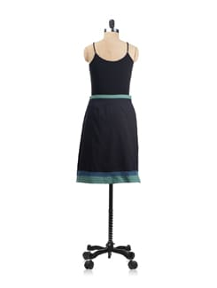 Black Skirt With Contrasting Trims - Mineral