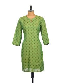 Printed Green Kurta - SSV